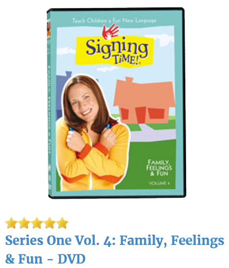 Signing Time Series One Volume 4 DVD
